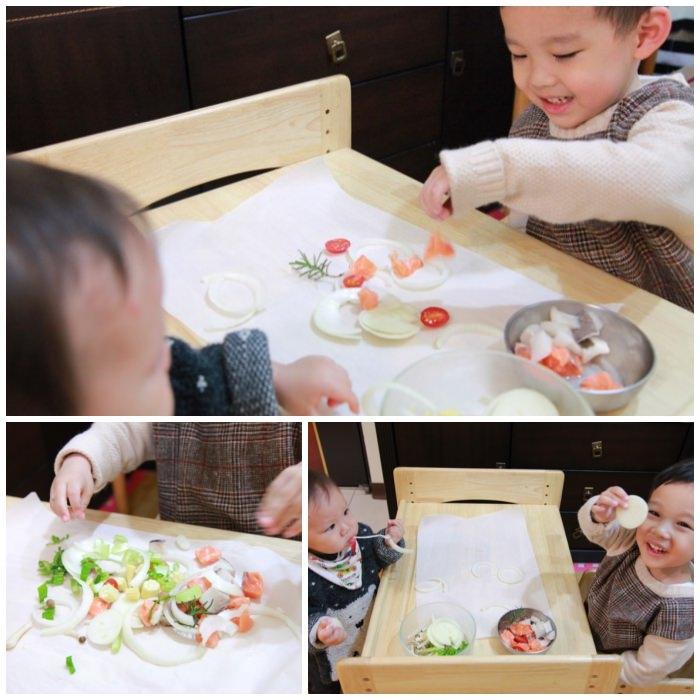 [食補副食品] 親子共作食譜,孩子的第一道料理-爐烤紙包海鮮