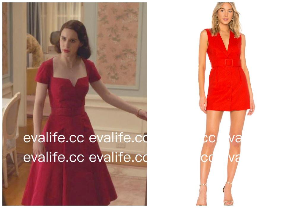 美劇穿搭|The Marvelous Mrs. Maisel red dress 了不起的麥瑟爾夫人的紅禮服