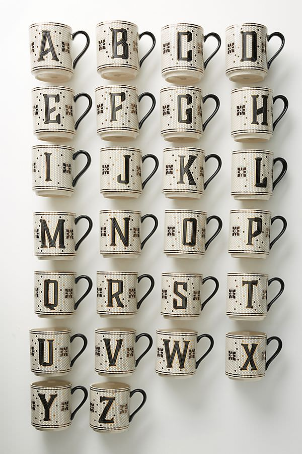 Anthropologie 8折折扣教學,讓你免找代購就能輕鬆購入歐美餐具、字母杯、家具。