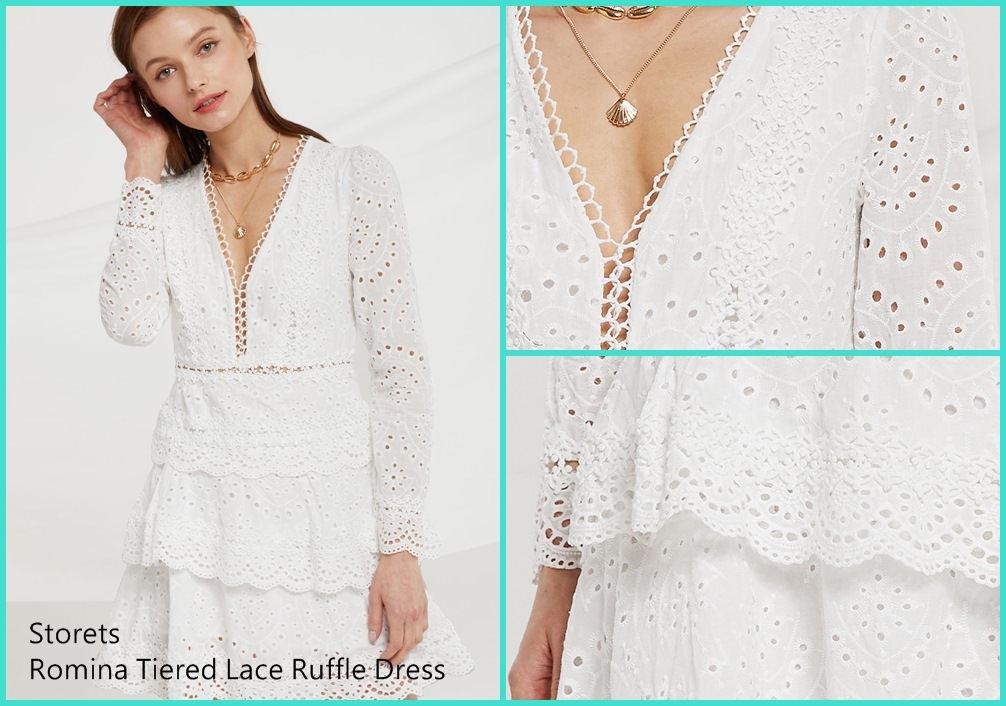 【Storets開箱】歐美小眾品牌! 仙氣飄飄的白色蕾絲洋裝+珍珠髮夾評價
