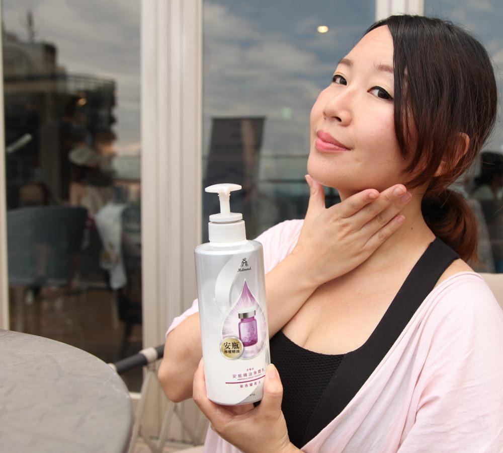 夏天必備,水感不油膩的肌膚保養!推薦法國調香台灣製造的mdmmd.香水安瓶精華身體乳