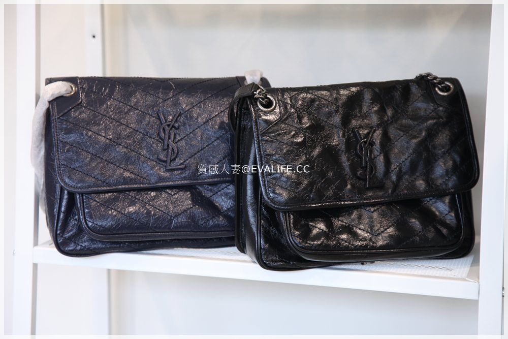 【精品】YSL 相機包LOU LOU CAMERA BAG + YSLNIKI BAG 深藍色款開箱