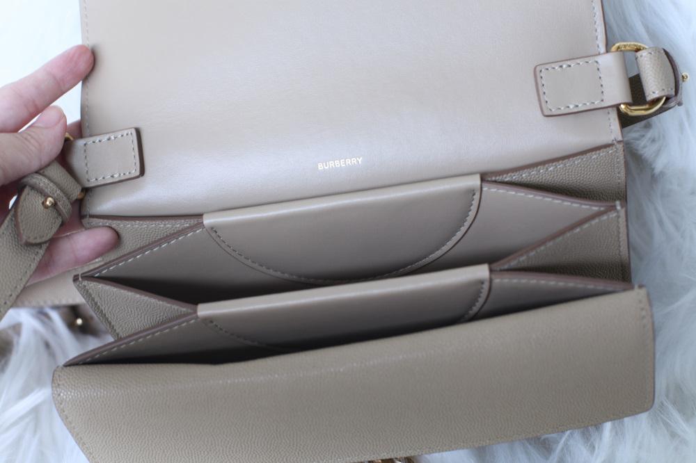 Burberry TB small Motif bag 精品開箱 | 溫柔的裸色魚子醬皮革,春夏遊玩清爽上身
