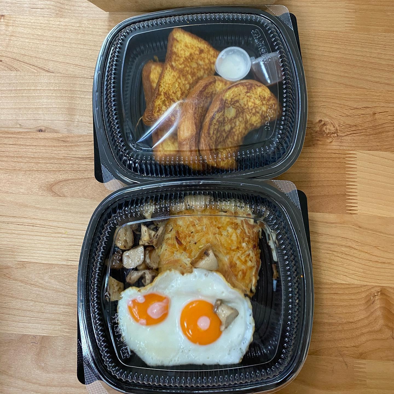 【早午餐外送】經典老店樂子,可以外帶和外送,必點法式吐司